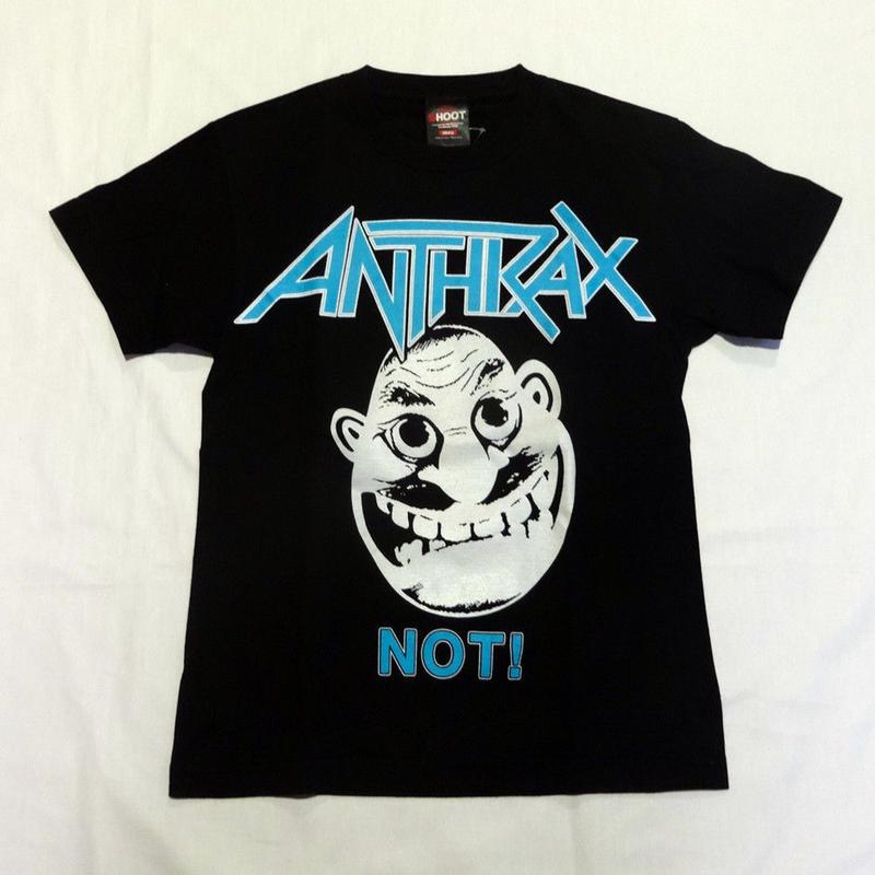 USED (古着)ANTHRAX Tシャツ(ブラック)