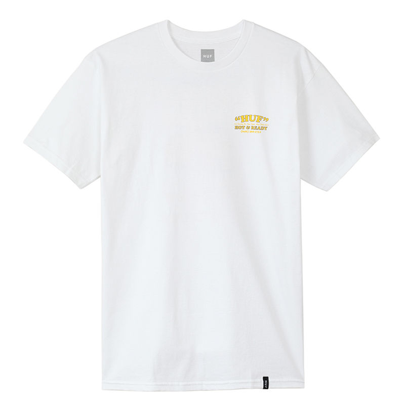 HUF / HOT & READY S/S TEE (WHITE)