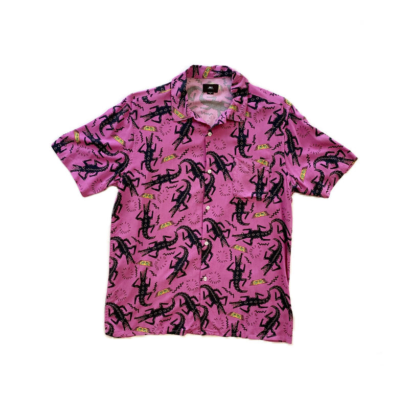 OBEY | SALAZAR WOVEN S/S SHIRTS (PINK)