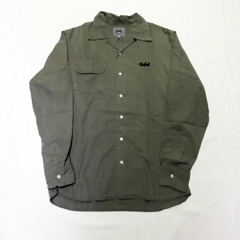USED(古着)URSUS BAPEシャツ(オリーブ)