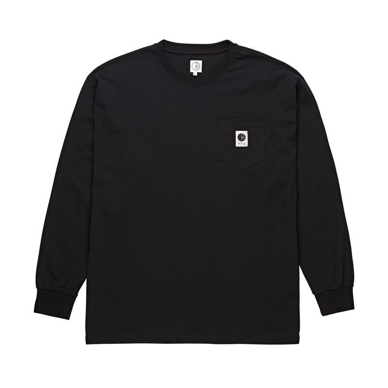 POLAR SKATE CO. / POCKET L/S TEE (BLACK)