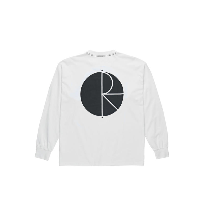 POLAR SKATE CO. / CONTRAST  L/S TEE (WHITE)