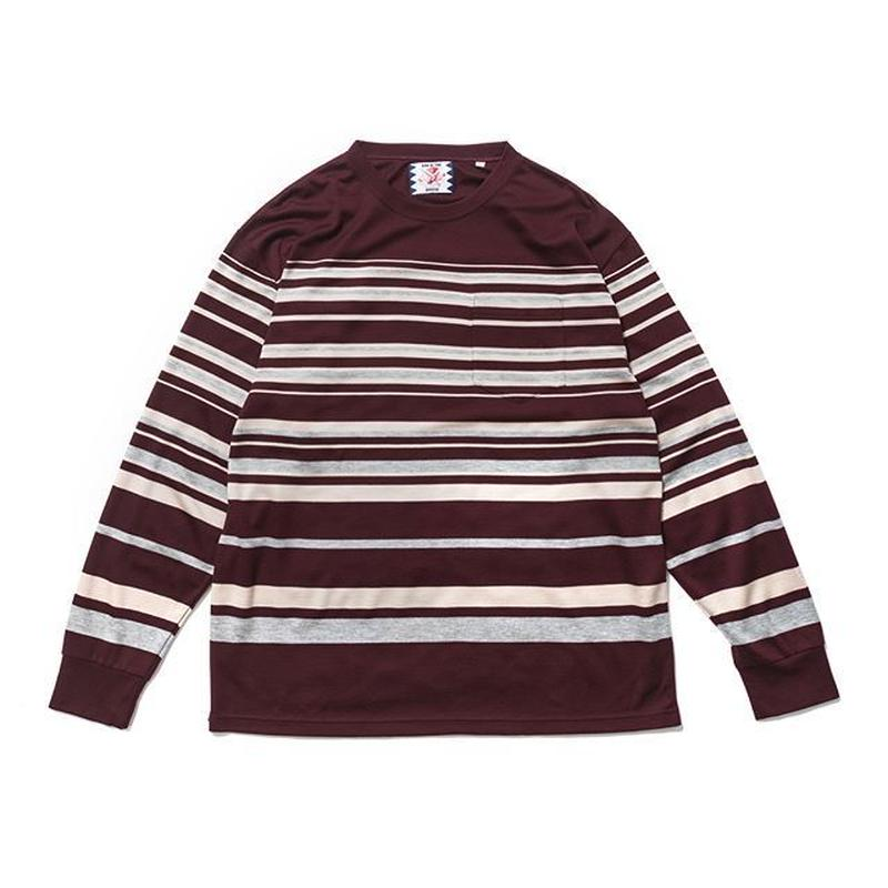 SON OF THE CHEESE | tensel border shirt (WINE)