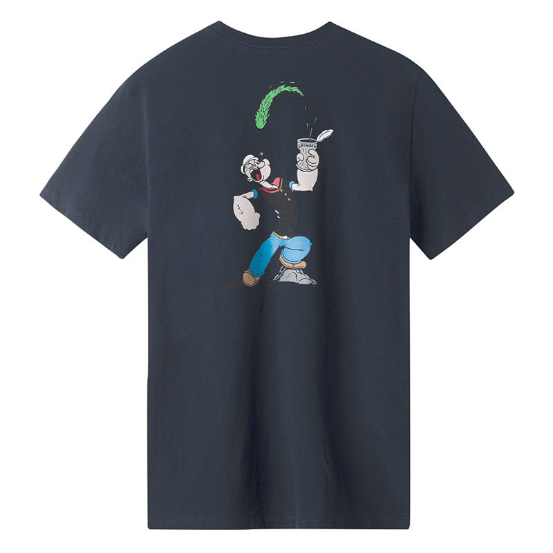 HUF / POPEYE S/S POCKET TEE (NAVY)