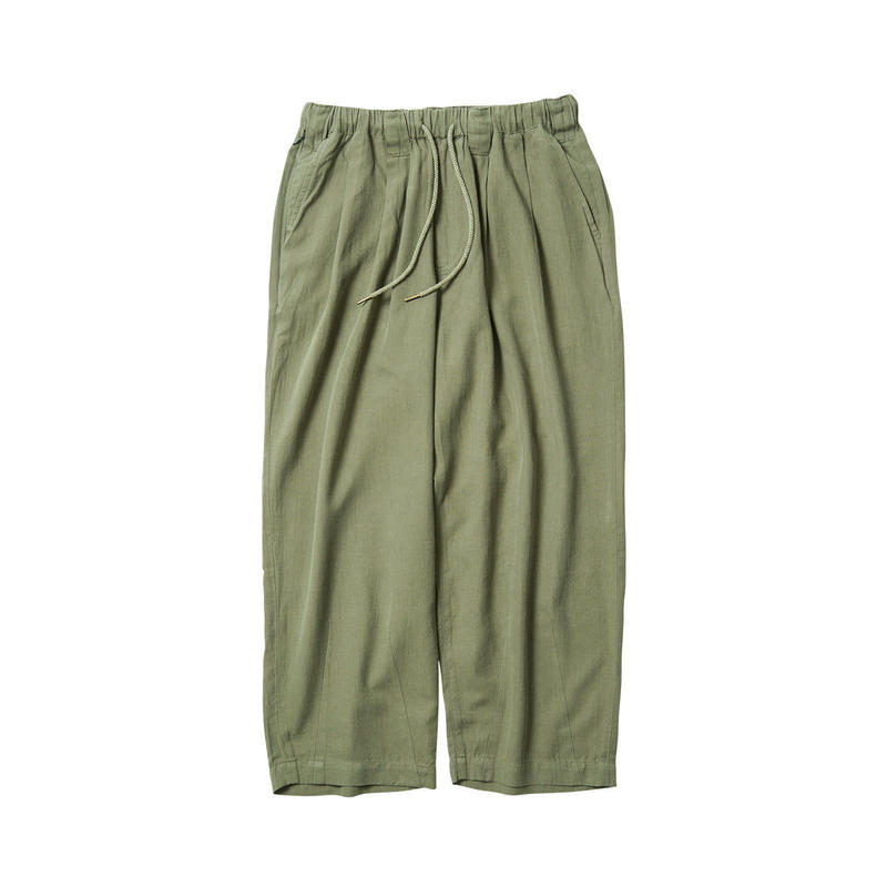 Tightbooth / BAGGY LINEN PANTS (OLIVE)