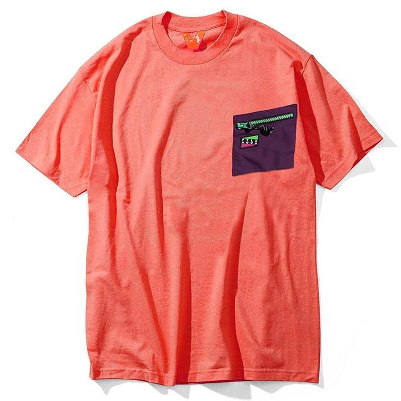 FLATLUX | FTLXAQUA Aqua Pocket2 Tee (coral pink)