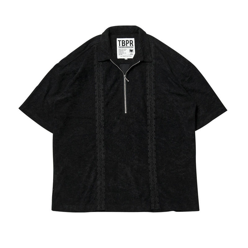 Tightbooth / ENCORE HALF ZIP SHIRT (BLACK)