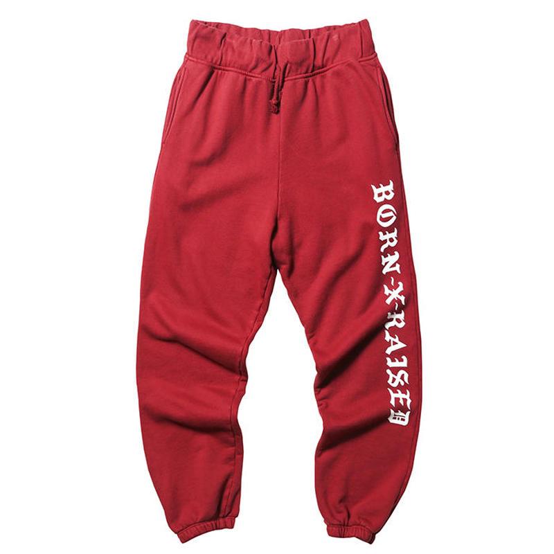 BORN X RAISED / BXR SWEAT PANTS (BURGUNDY)