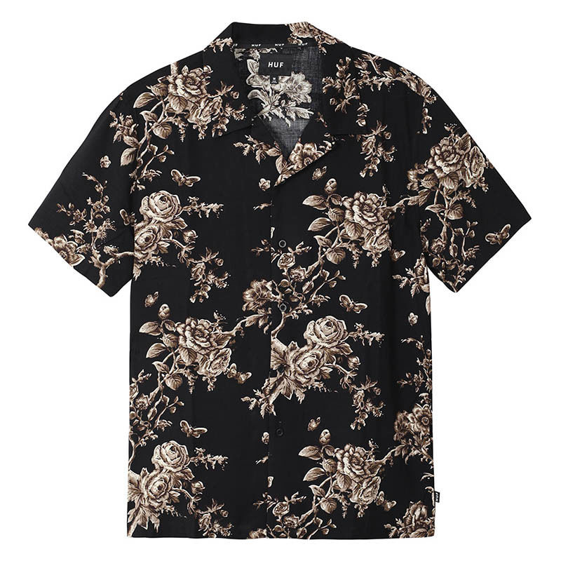HUF /HIGHLINE S/S WOVEN SHIRT (BLACK)