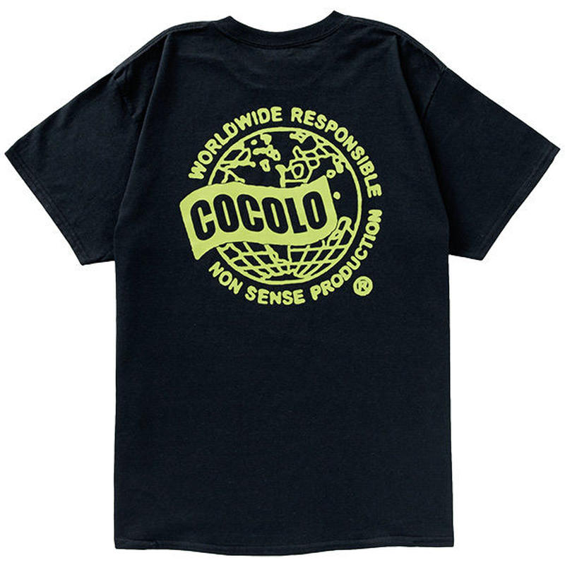COCOLO BLAND / WORLD WIDE S/S TEE (BLACK)