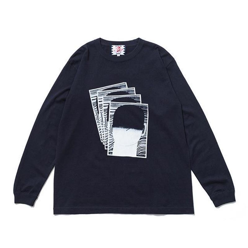 SON OF THE CHEESE | FACE commu sleeve (NAVY)