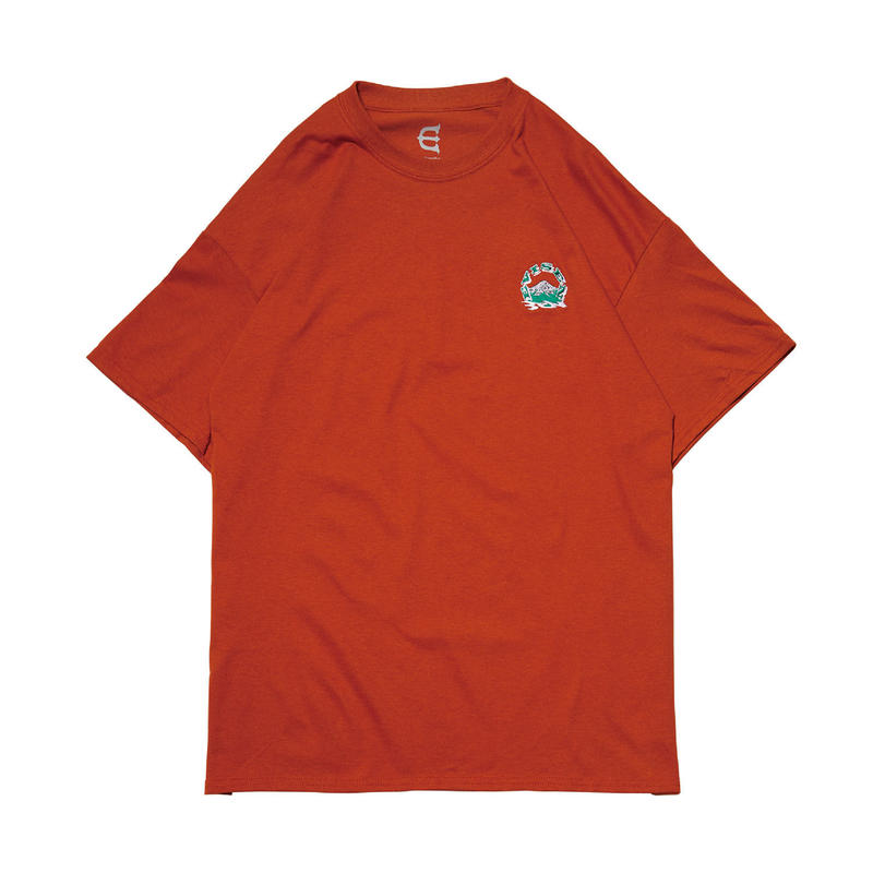 EVISEN SKATEBOARDSゑ®︎ |  EVIREST STITCH Tee (T.ORANGE)