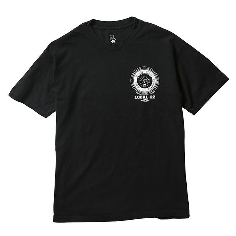 BORN X RAISED / LOCAL 22 TEE   (BLACK)