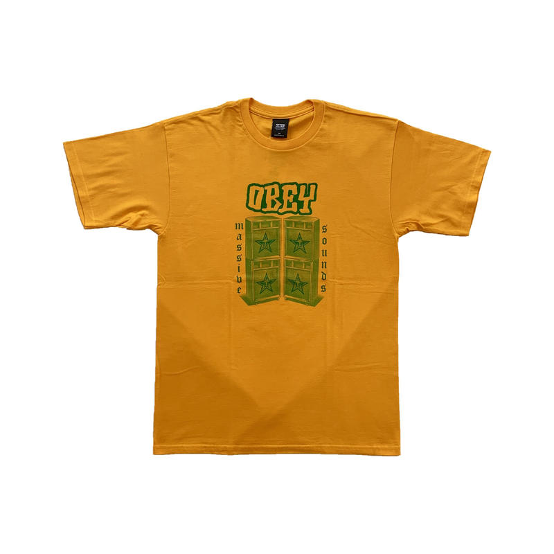 OBEY | OBEY MASSIVE SOUNDS TEE (GOLD)