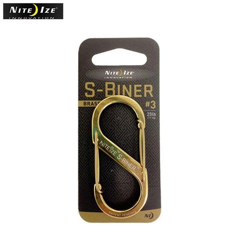 NITE IZE   ナイトアイズ ステンレスSバイナー No3(ゴールド)