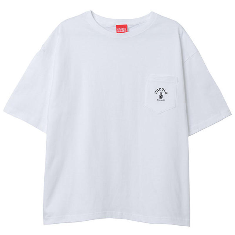 COCOLO BLAND / POCKET WIDE S/S (WHITE)