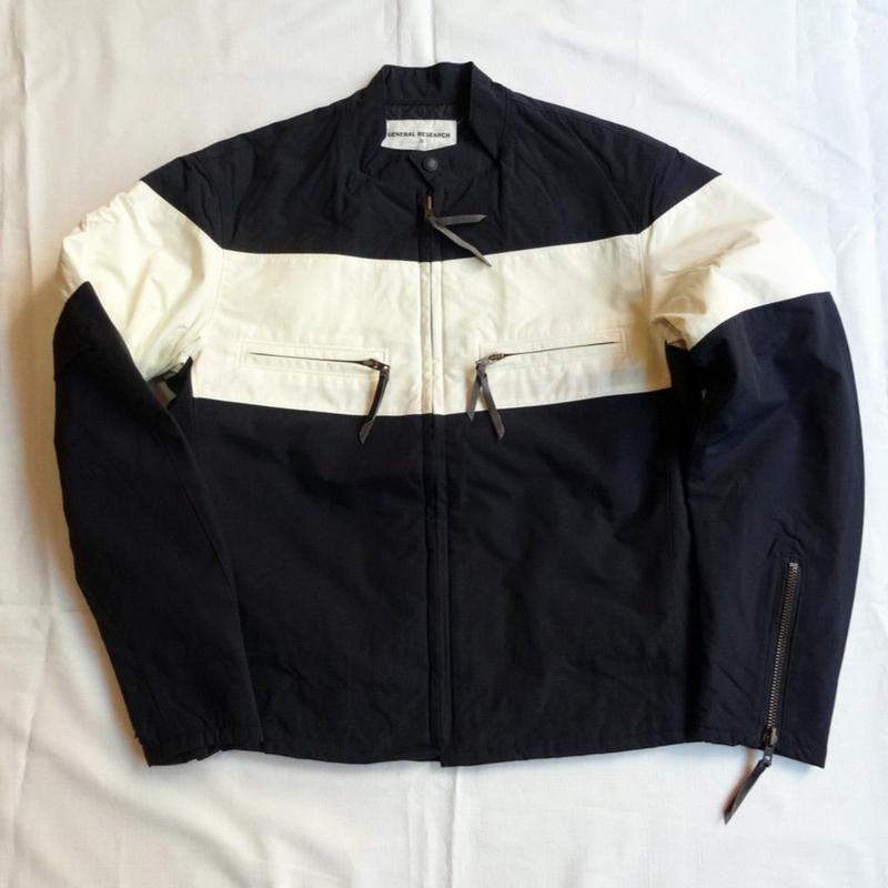 USED(古着)GENERAL RESERCHライダースジャケット(ブラック/ホワイト)