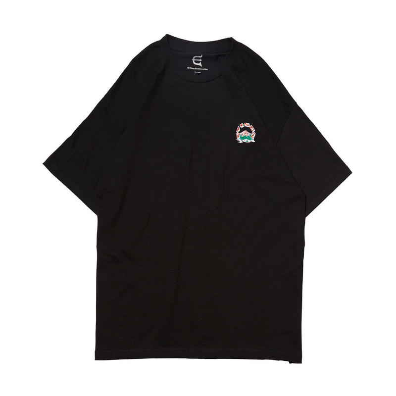 EVISEN SKATEBOARDSゑ®︎ |  EVIREST STITCH Tee (BLACK)