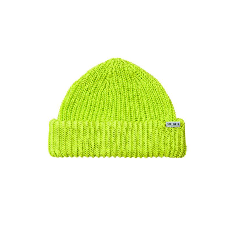 Tightbooth / SHORT KNIT CAP(Neon Yellow)