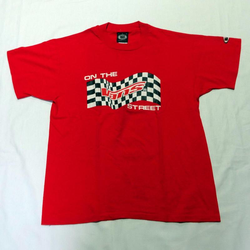 USED (古着)VANS 90年代 Tシャツ(レッド)