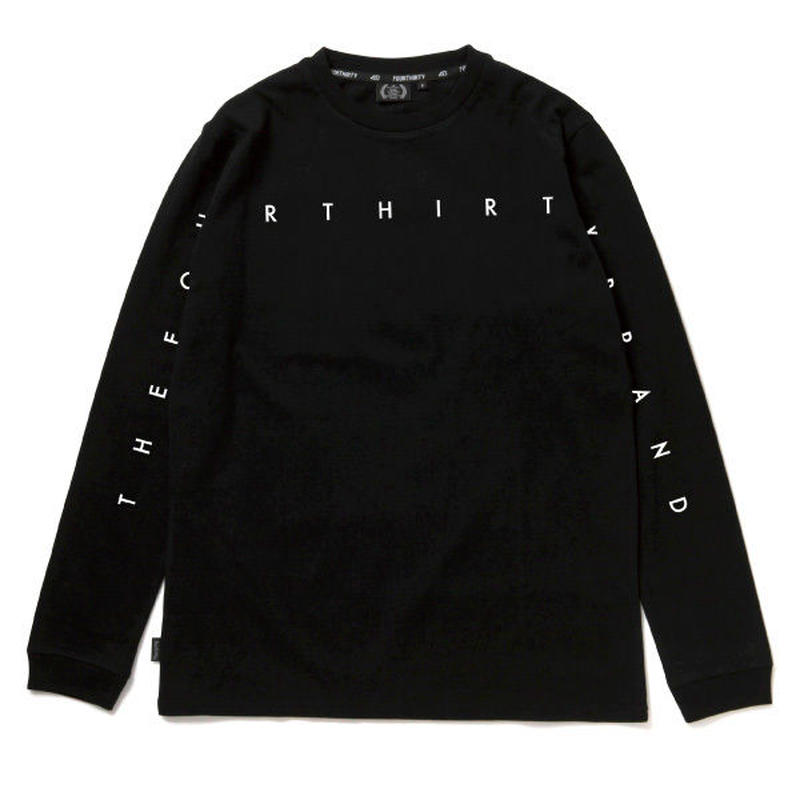 430 | NARROW LINE LOGO L/S TEE (BLACK)