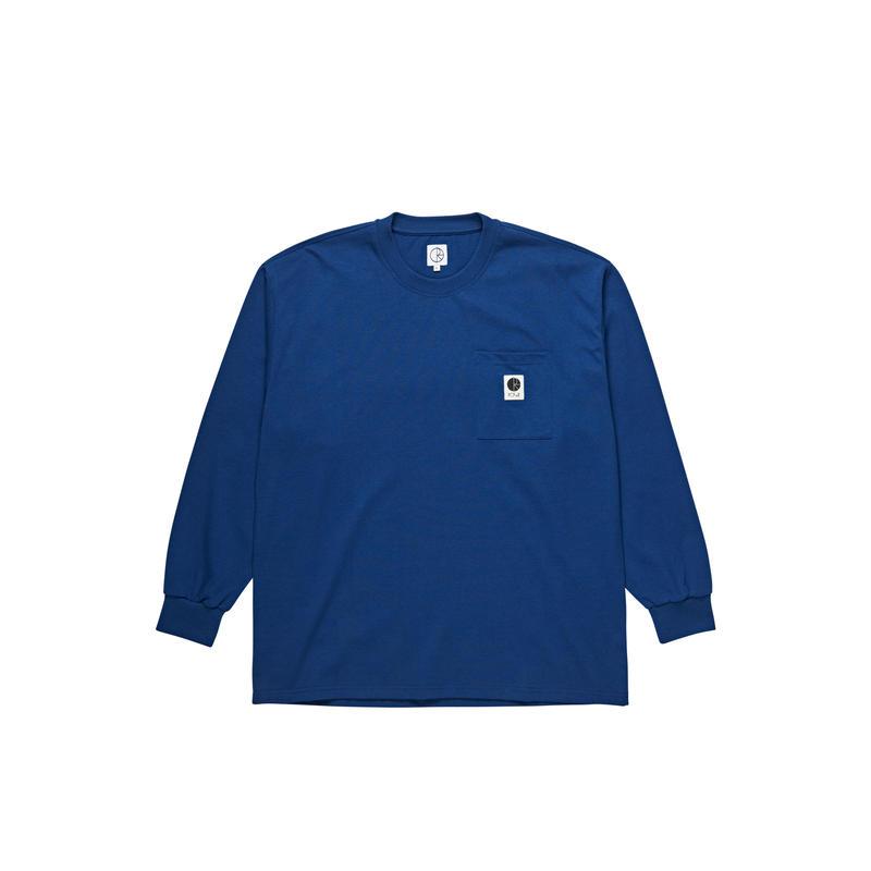 POLAR SKATE CO. / POCKET L/S TEE (D.BLUE)