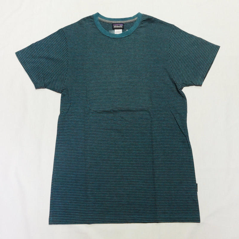 USED (古着)PATAGONIA ボーダーTシャツ(グリーン)