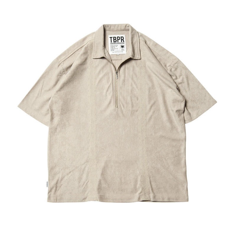 Tightbooth / ENCORE HALF ZIP SHIRT (BEIGE)