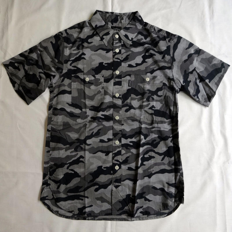 Oh!theGuilt:S/S REAL WORK CHAMBRAY  SHIRT CAMO(グレーカモ)