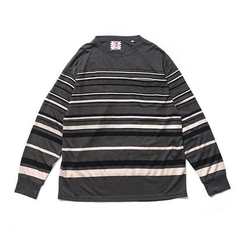 SON OF THE CHEESE | tensel border shirt (GRAY)