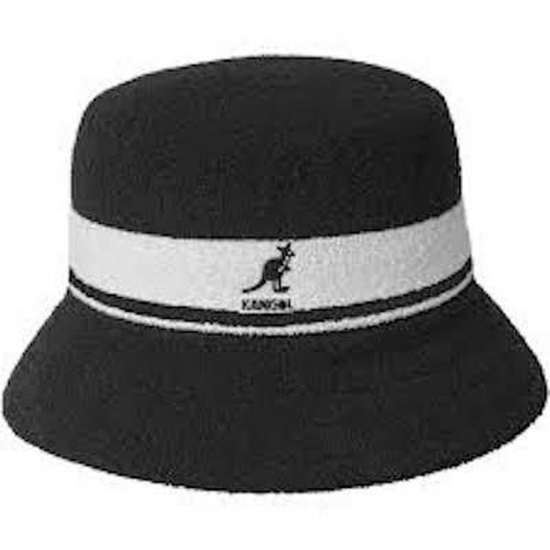 KANGOL / BERMUDA STRIPE BUCKET (BLACK)