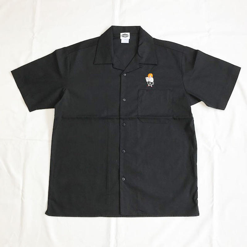 "Oh!theGuilt /SCUMBOY ""JAPANESE GIRL"" S/S OPEN COLLAR WORK SHIRT(ブラック)"