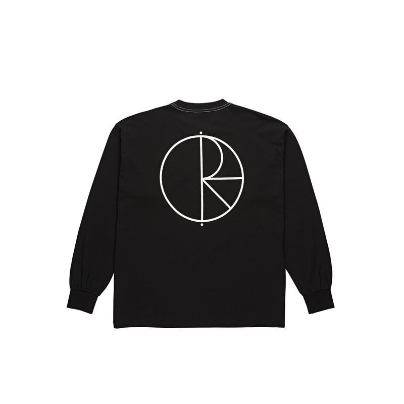POLAR SKATE CO. / CONTRAST  L/S TEE (BLACK)