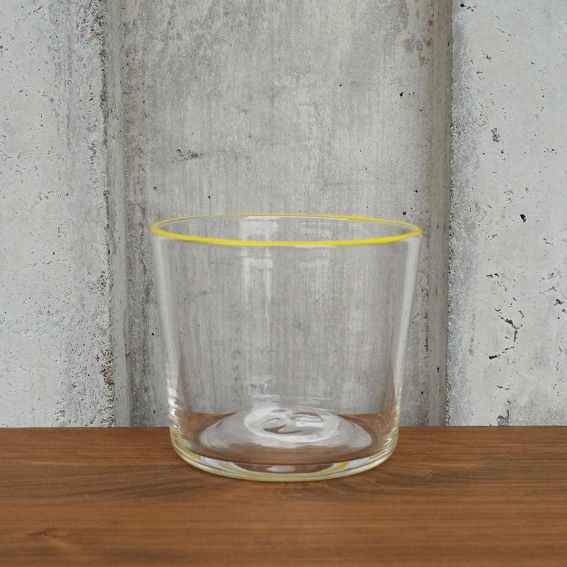 glass「色まきのティーボール yellow」 岡田 芙紗子 029304-1-65