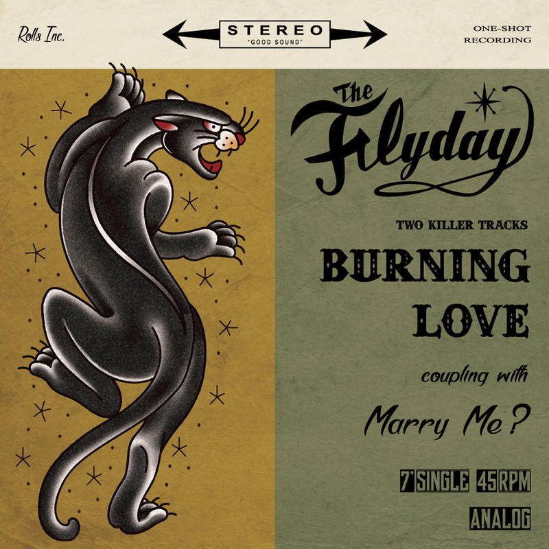 THE FLYDAY「Burning Love」7inch single(アナログ盤)+ CD