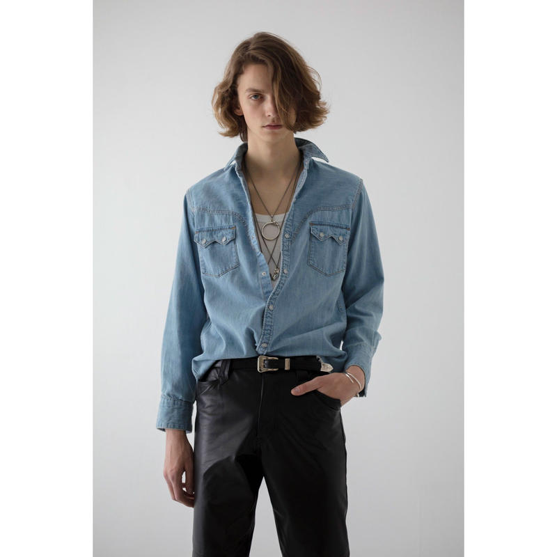 Western Harry Denim Shirt. -Used Washed-