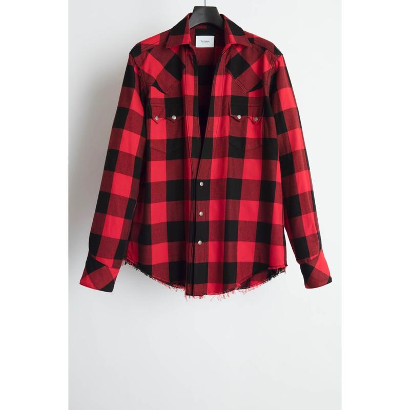 Western Cutting Shirt. -Buffalo Check Flannel-