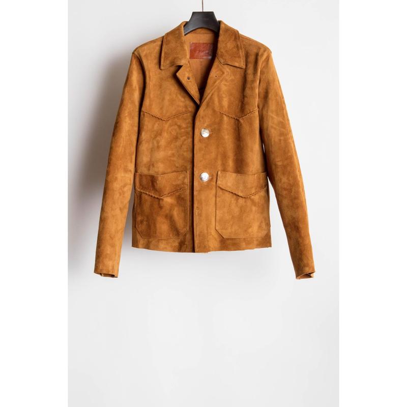 Western Concho Jacket. -Goat Leather-