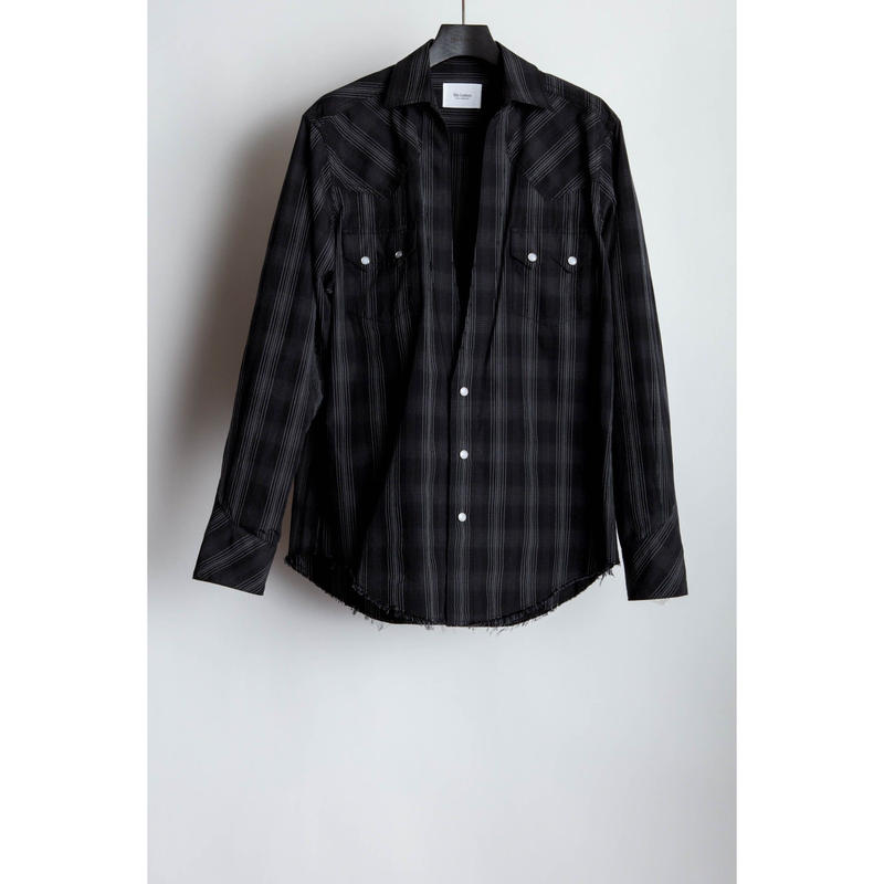 Western Cutting Shirt. -Ombre Check-
