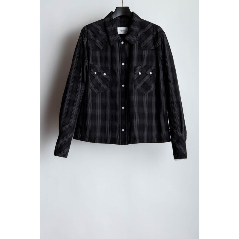 Western Short Shirt. -Ombre Check-
