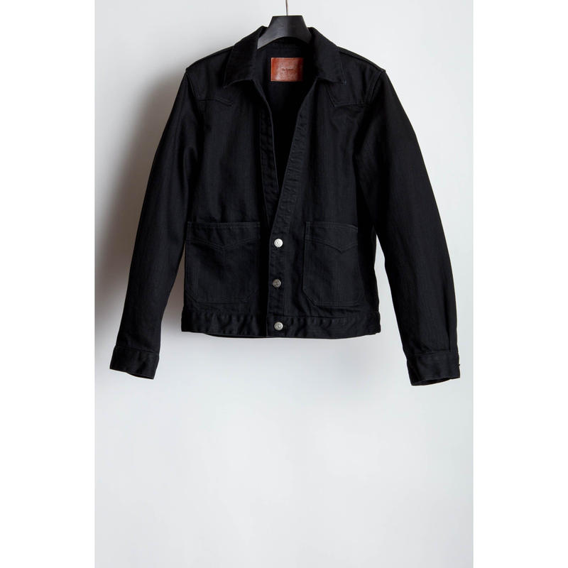Western Cutting Denim Jacket. -Washed-