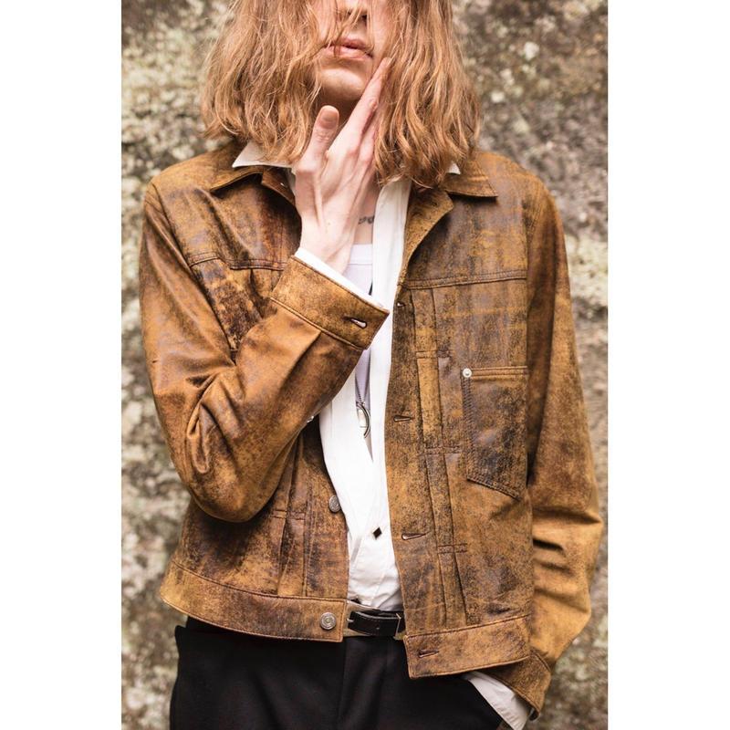 Western Work Jacket. -Sheep Leather-