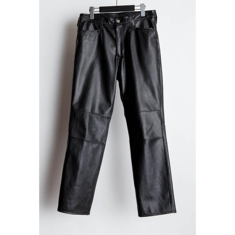 Western Regular Pants. -Goat Leather-