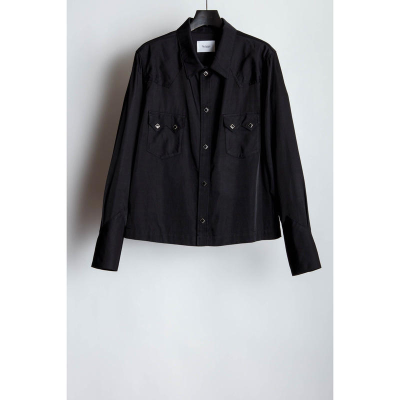 Western Short Shirt.  -Rayon Cotton Twill-