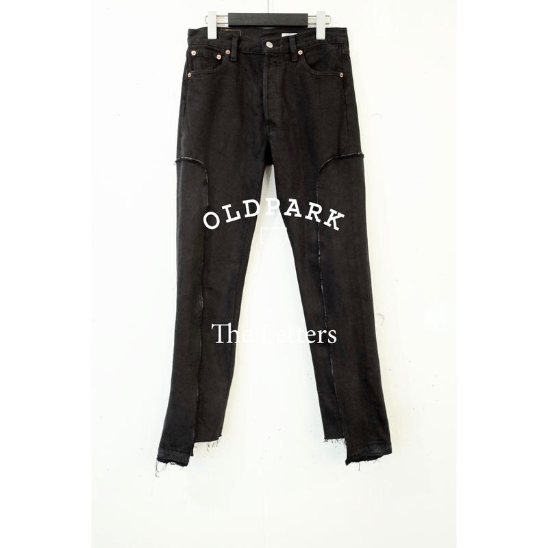 The Letters × OLDPARK / Western Jeans. -Leather Piping-