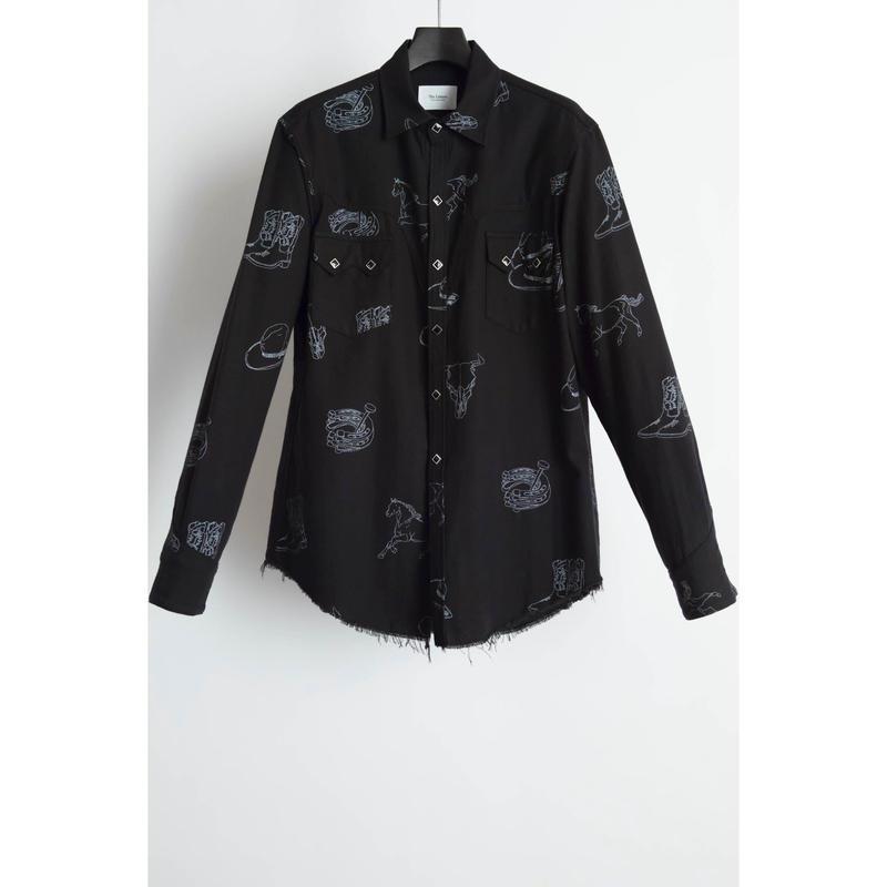 Western Harry Shirt. -Western Pattern Flannel-