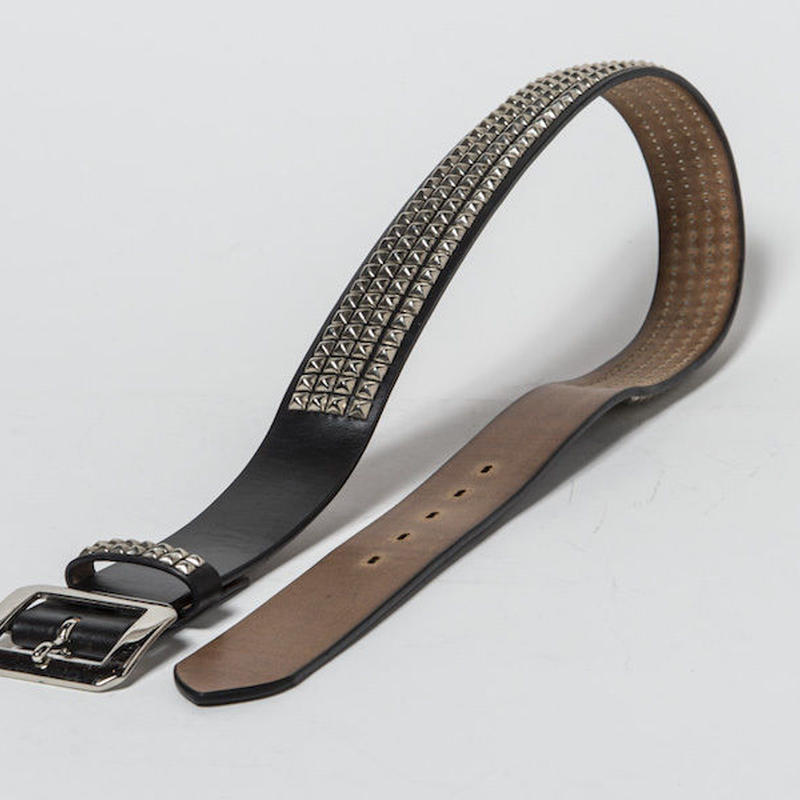 40mm STUDS BELT -pyramid- (BLACK)