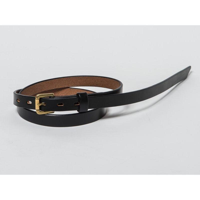 20mm LONG PLAIN BELT (BLACK)