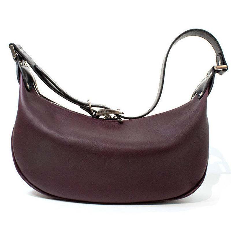 LEATHER BANANA BAG (PURPLE)