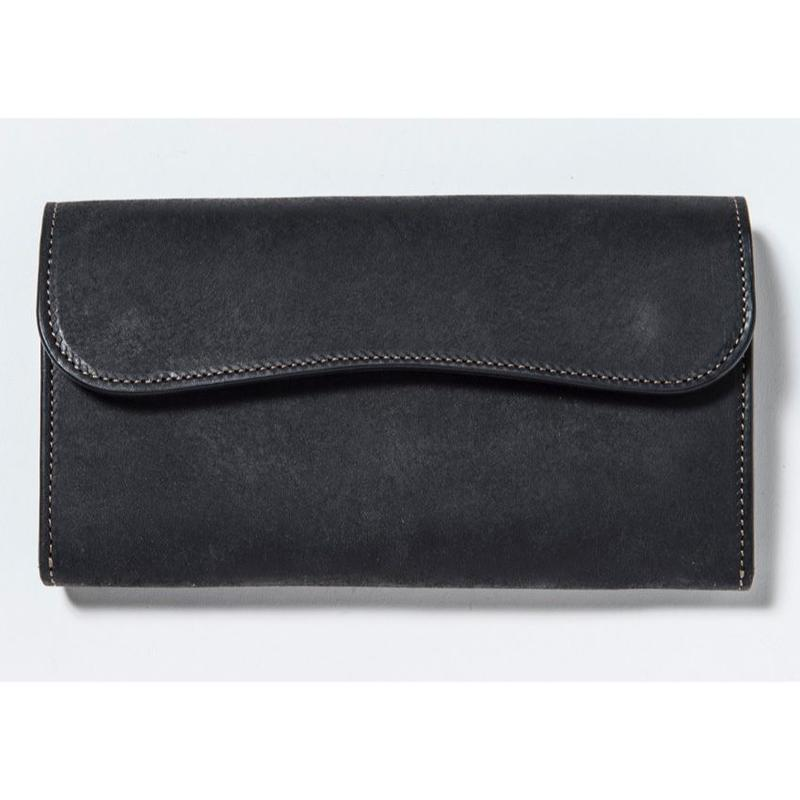 FLAP LONG WALLET (BLACK)